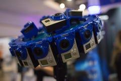 Sistema del aparejo 360 VR de la Multi-cámara Imagen de archivo