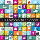 Sistema del APP de los iconos Imagen de archivo