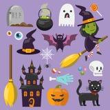 Sistema del arte de Halloween Fotos de archivo