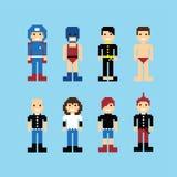 Sistema del avatar de la gente del pixel libre illustration