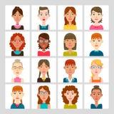 Sistema del avatar de las mujeres Imagen de archivo