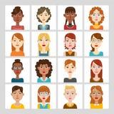 Sistema del avatar de las mujeres Imágenes de archivo libres de regalías
