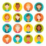 Sistema del avatar de las mujeres Imagen de archivo libre de regalías