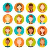 Sistema del avatar de las mujeres Foto de archivo libre de regalías