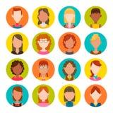 Sistema del avatar de las mujeres Fotografía de archivo