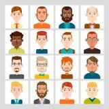 Sistema del avatar de los hombres Imagenes de archivo