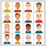 Sistema del avatar de los hombres Fotografía de archivo