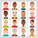 Sistema del avatar de los hombres Foto de archivo libre de regalías