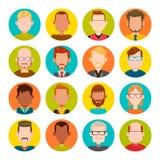 Sistema del avatar de los hombres Fotos de archivo libres de regalías