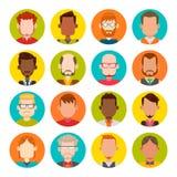 Sistema del avatar de los hombres Imágenes de archivo libres de regalías