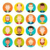Sistema del avatar de los hombres Fotografía de archivo libre de regalías