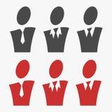 Sistema del avatar del negocio Imagen de archivo libre de regalías