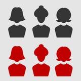 Sistema del avatar del negocio de la mujer Fotos de archivo libres de regalías
