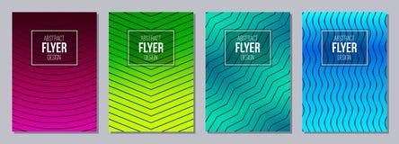 Sistema del aviador, carteles, banderas, carteles, templa del diseño del folleto ilustración del vector