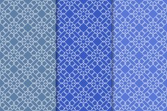 Sistema del azul de modelos inconsútiles geométricos Imágenes de archivo libres de regalías