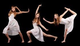 Sistema del bailarín moderno del estilo de las fotos Fotografía de archivo