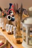 Sistema del banquete de boda Fotografía de archivo