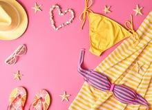 Sistema del bikini de la ropa del verano de la moda Equipo de la playa Imagen de archivo