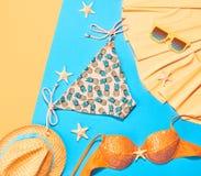 Sistema del bikini de la ropa del verano de la moda Equipo de la playa Fotos de archivo