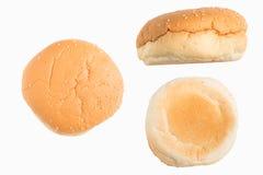 Sistema del bollo de hamburguesa Imagenes de archivo