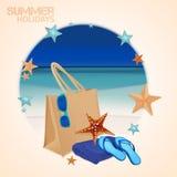 Sistema del bolso de la playa Fotos de archivo libres de regalías