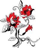 Sistema del bosquejo de la flor Imagen de archivo libre de regalías