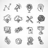 Sistema del bosquejo del márketing de Internet de SEO Fotos de archivo