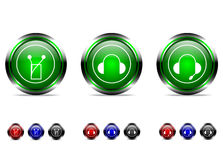 Sistema del botón. stock de ilustración