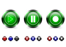 Sistema del botón stock de ilustración