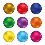 Sistema del botón brillante ilustración del vector