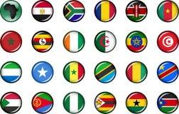 Sistema del botón de África Imagen de archivo libre de regalías
