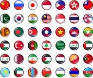 Sistema del botón de Asia Imagen de archivo