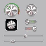 Sistema del botón de la música Fotos de archivo libres de regalías