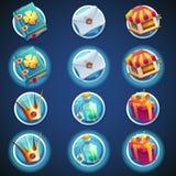 Sistema del botón de los iconos para los videojuegos del web ilustración del vector
