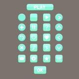 Sistema del botón del juego UI Imagen de archivo