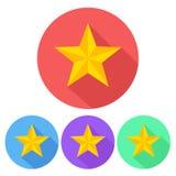 Sistema del botón del icono de la estrella, ejemplo común del vector stock de ilustración