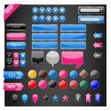 Sistema del botón del vector de los elementos del web Fotos de archivo