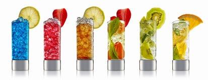 Sistema del cóctel del alcohol imagen de archivo libre de regalías