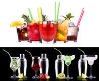 Sistema del cóctel del alcohol foto de archivo libre de regalías