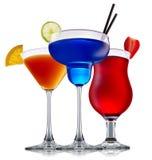 Sistema del cóctel del alcohol fotografía de archivo libre de regalías