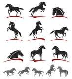 Sistema del caballo Vector Fotos de archivo
