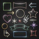 Sistema del capítulo de bombillas ilustración del vector