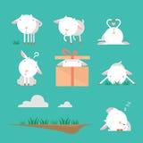 Sistema del carácter de la cabra ilustración del vector