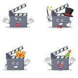 Sistema del carácter de la chapaleta de la película con el payaso loco del rey del mago ilustración del vector