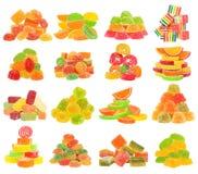 Sistema del caramelo aislado Foto de archivo libre de regalías