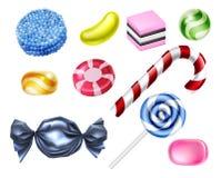 Sistema del caramelo de los dulces libre illustration