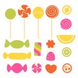 Sistema del caramelo dulce libre illustration