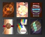 Sistema del cartel, aviador, plantillas del diseño del folleto ilustración del vector