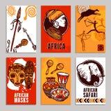 Sistema del cartel de África ilustración del vector