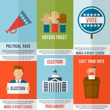 Sistema del cartel de la elección Foto de archivo libre de regalías